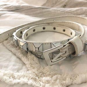 Express Distressed Studded Belt